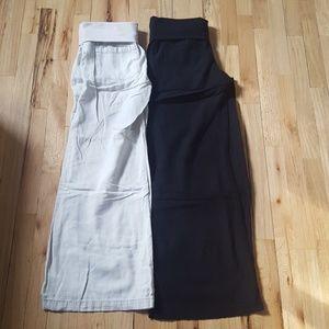 Old Navy wide leg linen pants